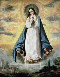 The Immaculate Conception, Undated by Zurbaran | Painting Reproduction