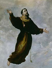 Levitation of St. Francis, Undated by Zurbaran | Painting Reproduction