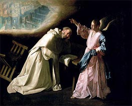 Vision of St. Peter Nolasco, 1629 by Zurbaran | Painting Reproduction