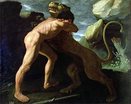 Hercules Fighting with the Nemean Lion, Undated by Zurbaran | Painting Reproduction