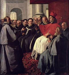 St. Bonaventure at the Council of Lyons in 1274, 1627 by Zurbaran | Painting Reproduction