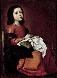 The Childhood of the Virgin | Zurbaran | outdated