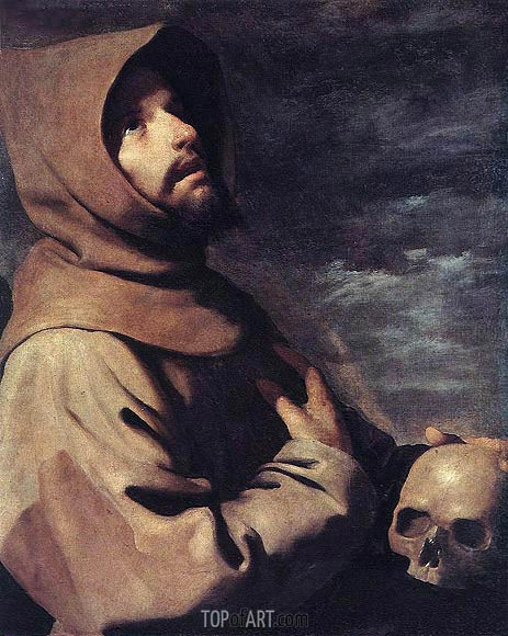 Saint Francis in Ecstasy, c.1660 | Zurbaran | Painting Reproduction