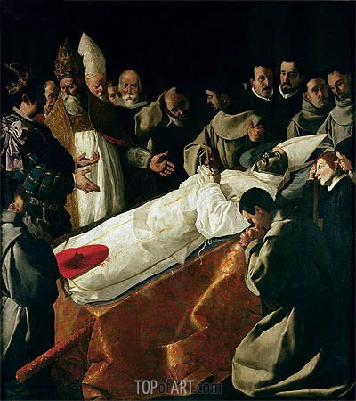 The Exhibition of the Body of St. Bonaventure, a.1627 | Zurbaran| Painting Reproduction