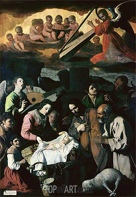 Adoration of the Shepherds, 1638 | Zurbaran | Gemälde Reproduktion