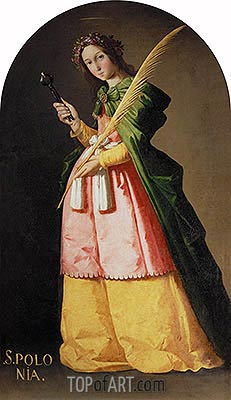 St. Apollonia, c.1636 | Zurbaran| Painting Reproduction