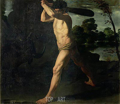 Hercules and the Cretan Bull, 1634 | Zurbaran | Painting Reproduction