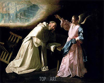 Vision of St. Peter Nolasco, 1629 | Zurbaran| Painting Reproduction