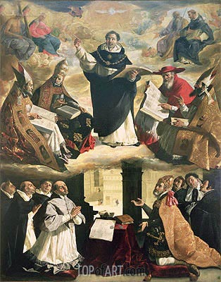 The Apotheosis of St. Thomas Aquinas, 1631 | Zurbaran | Gemälde Reproduktion
