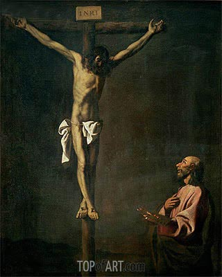 Zurbaran | St. Luke as a Painter before Christ on the Cross, c.1660