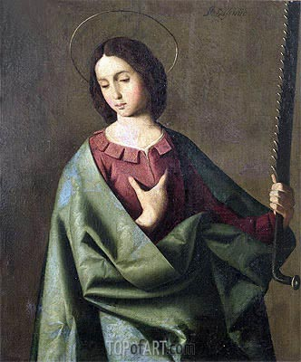 St. Euphemia, Undated | Zurbaran | Painting Reproduction