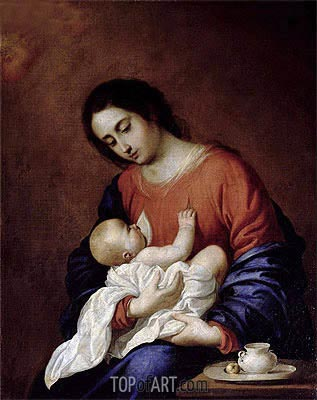 Virgin and Child, 1658 | Zurbaran| Painting Reproduction