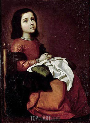 The Childhood of the Virgin, c.1660 | Zurbaran| Gemälde Reproduktion