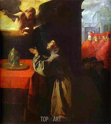 St Bonaventura in Prayer, 1629 | Zurbaran| Painting Reproduction