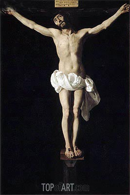 Crucified Jesus, c.1630/40 | Zurbaran| Painting Reproduction