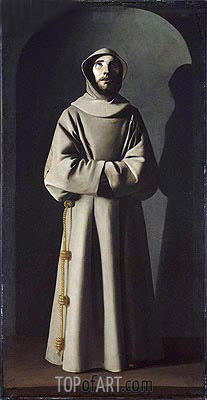 Saint Francis, c.1640/45 | Zurbaran | Painting Reproduction