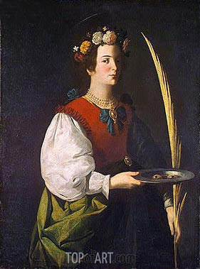 Saint Lucy, c.1625/30 | Zurbaran | Painting Reproduction