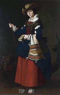 Saint Margaret of Antioch, c.1630/34 | Zurbaran| Gemälde Reproduktion