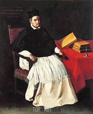 Portrait of Fray Diego Deza, c.1630 | Zurbaran| Painting Reproduction