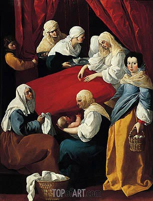 Zurbaran | The Birth of the Virgin, c.1627