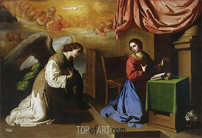 The Annunciation, 1650 | Zurbaran| Painting Reproduction