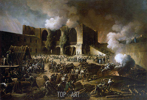 Siege of Burgos Castle, 1813 | François-Joseph Heim | Painting Reproduction