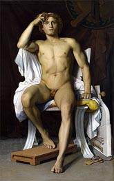 Der Zorn des Achilles, 1847 von Benouville | Gemälde-Reproduktion