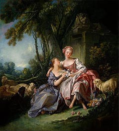 The Love Letter, 1750 by Boucher | Painting Reproduction