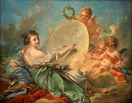 Allegory of Painting, 1765 von Boucher | Gemälde-Reproduktion