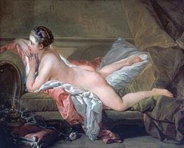 Reclining Girl, 1752 by Boucher | Painting Reproduction