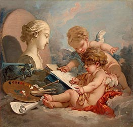 Cupids Allegory of Painting, c.1760 von Boucher | Gemälde-Reproduktion