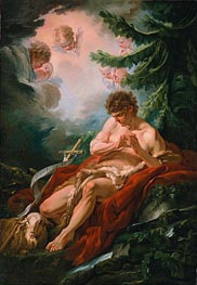 Saint John the Baptist, c.1755 by Boucher | Painting Reproduction