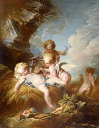 The Cherub Harvesters, c.1733/34 by Boucher | Painting Reproduction