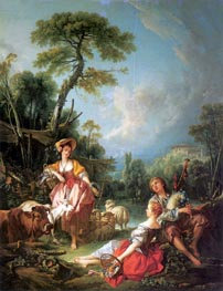 A Summer Pastoral | Boucher | Painting Reproduction