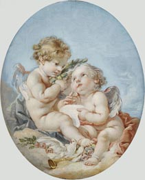 Poetry, undated by Boucher   Painting Reproduction
