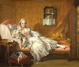 A Lady on Her Day Bed, 1743 by Boucher   Painting Reproduction