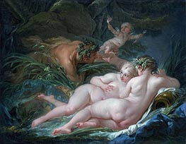 Pan and Syrinx, 1759 by Boucher | Painting Reproduction