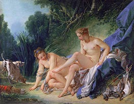 Diana Resting after her Bath, 1742 by Boucher | Painting Reproduction