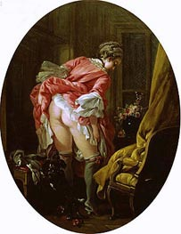 The Raised Skirt, 1742 by Boucher | Painting Reproduction