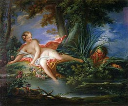 The Bather Surprised, Undated by Boucher | Painting Reproduction