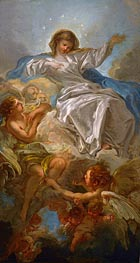 Assumption of the Virgin, undated by Boucher | Painting Reproduction