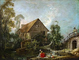 The Mill, 1751 by Boucher | Painting Reproduction