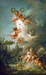 The Target of Love, 1758 by Boucher | Painting Reproduction