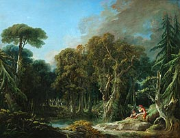 The Wood, 1740 by Boucher | Painting Reproduction