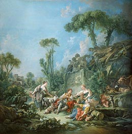 Shepherd's Idyll, 1768 by Boucher | Painting Reproduction