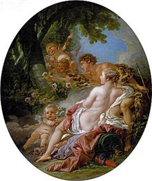 Angelica and Medoro, 1763 by Boucher | Painting Reproduction