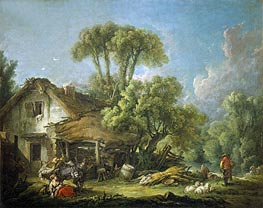 Morning, 1764 by Boucher | Painting Reproduction