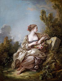 The Gardener, 1761 by Boucher | Painting Reproduction