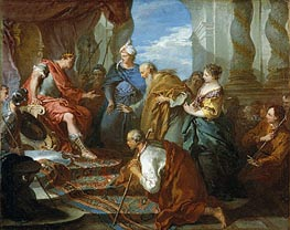 Joseph Presenting His Father and Brothers to the Pharaoh, c.1723 by Boucher | Painting Reproduction
