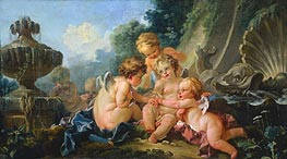 Cupids in Conspiracy, c.1740/50 by Boucher | Painting Reproduction